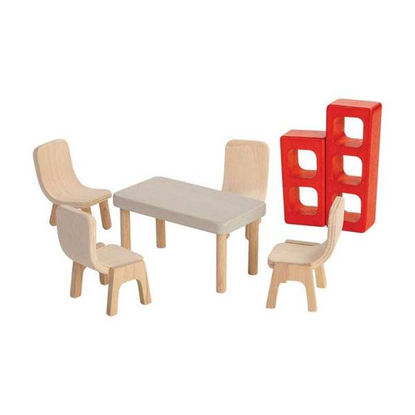 Dining room dolls' furniture, Plan Toys PLTO-7348