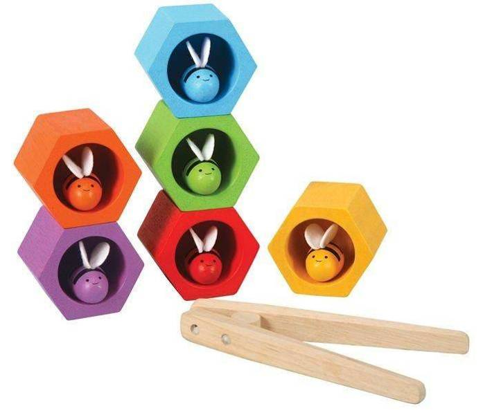 Honeycomb with bees, skill game, Plan Toys®