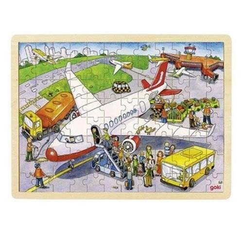 Puzzle 96 el. design Airplane, Goki 57544