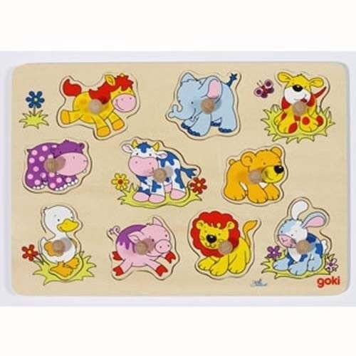 Puzzle with handles, animal motif, Goki 57838