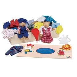 Teddy bear dressing, character dressing fun, Toys Pure 51914