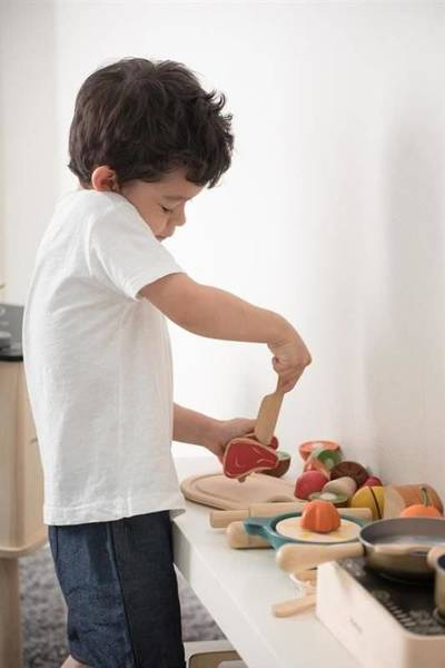 Wooden Meat Set, Cooking Fun, Plan Toys®