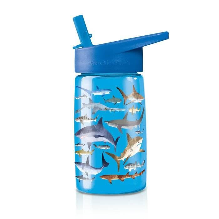 Butelka z rurką, motyw rekiny, Crocodile Creek 1042-2