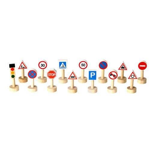Drewniane znaki drogowe i światła, Plan Toys®