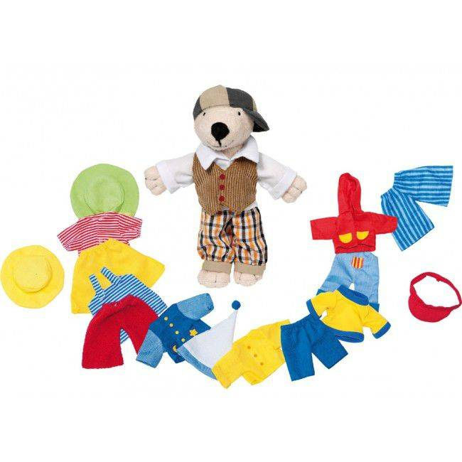 Przebieranka pluszowy miś z ubrankami, Goki 51798