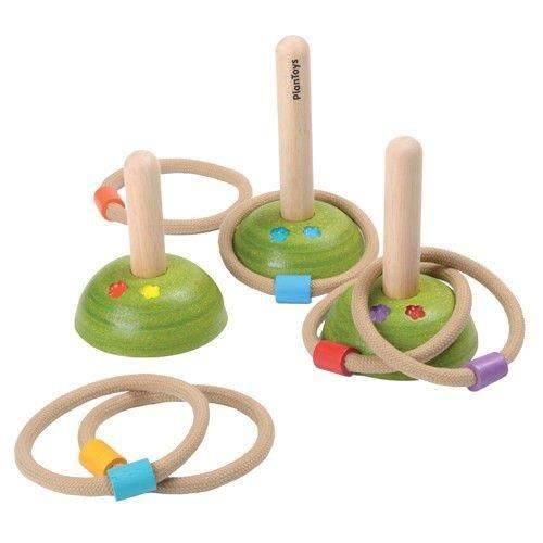 Rzucanie obręczy na paliki Plan Toys